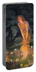 Midsummer Eve Portable Battery Charger by Edward Robert Hughes