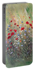 Midsummer Poppies Portable Battery Charger by Dorothy Maier