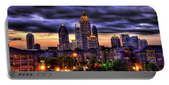 Midtown Atlanta Towers Over Atlantic Commons Art Portable Battery Charger