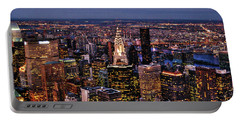 Midtown Skyline At Dusk Portable Battery Charger