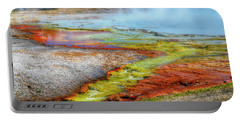Midway Geyser Basin Hot Springs Portable Battery Charger by Greg Sigrist