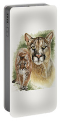 Portable Battery Charger featuring the mixed media Mighty by Barbara Keith