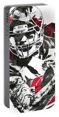 Portable Battery Charger featuring the mixed media Mike Evans Tampa Bay Buccaneers Pixel Art by Joe Hamilton