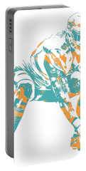 Mike Pouncey Miami Dolphins Pixel Art 2 Portable Battery Charger