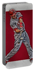 Mike Trout Los Angeles Angels Art 1 Portable Battery Charger by Joe Hamilton