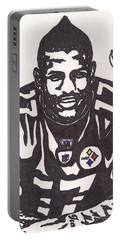 Portable Battery Charger featuring the drawing Mike Wallace 1 by Jeremiah Colley