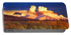 Milagro Cloud Theater Over Truchas Peaks Nm Portable Battery Charger