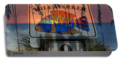 Portable Battery Charger featuring the photograph Mile Marker 0 Sunset by David Lee Thompson