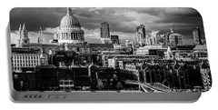 Milennium Bridge And St. Pauls, London Portable Battery Charger