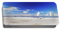 Portable Battery Charger featuring the photograph Miles And Miles Of White Sand by Gary Wonning