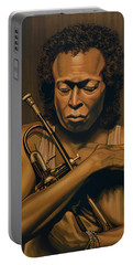 Miles Davis Painting Portable Battery Charger