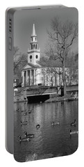 Milford Congregational Church Bw Portable Battery Charger