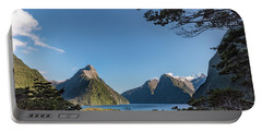 Portable Battery Charger featuring the photograph Milford Sound Overlook by Gary Eason