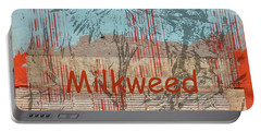 Milkweed Collage Portable Battery Charger by Cynthia Powell