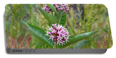 Portable Battery Charger featuring the photograph Milkweed In Bloom by Ann E Robson