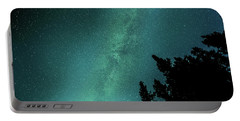 Milky Way Above The Trees Portable Battery Charger