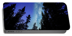 Milky Way Among The Trees Portable Battery Charger