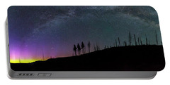 Portable Battery Charger featuring the photograph Milky Way And Aurora Borealis by Cat Connor