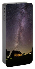 Milky Way And Barn Portable Battery Charger