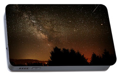 Portable Battery Charger featuring the photograph Milky Way And Falling Star by Katie Wing Vigil