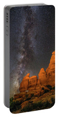 Milky Way And Navajo Rocks Portable Battery Charger