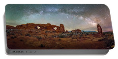 Milky Way At Arches Park Portable Battery Charger