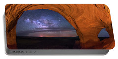 Milky Way At Looking Glass Rock Portable Battery Charger