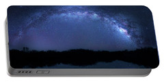 Portable Battery Charger featuring the photograph Milky Way At Mrazek Pond by Mark Andrew Thomas