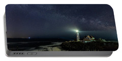 Milky Way At Portland Head Light Portable Battery Charger