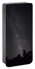 Milky Way Galaxy At Arches National Park Portable Battery Charger