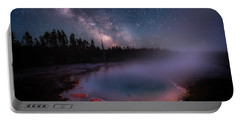 Milky Way In Yellowstone Portable Battery Charger