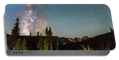 Milky Way Magic Above Longs Lake And The Indian Peaks Portable Battery Charger