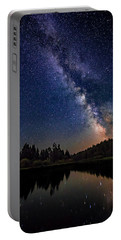 Milky Way Over The Deschutes River Portable Battery Charger