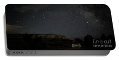 Milky Way Over Campground Portable Battery Charger by Anne Rodkin