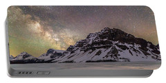 Milky Way Over Crowfoot Mountain Portable Battery Charger