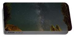 Milky Way Over Farmland In Central Oregon Portable Battery Charger
