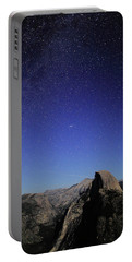 Milky Way Over Half Dome Portable Battery Charger