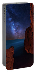 Milky Way Over Huchinson Island Beach Florida Portable Battery Charger by Justin Kelefas