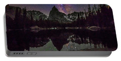 Milky Way Over Lone Eagle Peak And Mirror Lake Portable Battery Charger