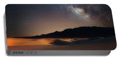 Milky Way Over Mesquite Dunes Portable Battery Charger