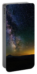 Milky Way Over Mt Adams Portable Battery Charger