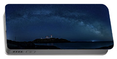 Milky Way Over Nubble Portable Battery Charger
