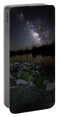 Milky Way Over Pass Lake Portable Battery Charger