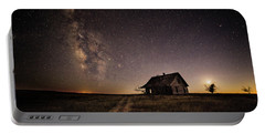 Milky Way Over Prairie House Portable Battery Charger by Kristal Kraft