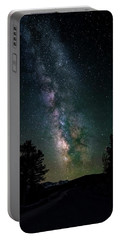 Milky Way Over Rocky Mountains Portable Battery Charger