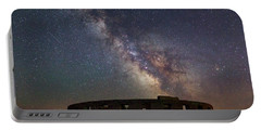 Portable Battery Charger featuring the photograph Milky Way Over Stonehendge by Cat Connor