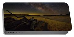 Portable Battery Charger featuring the photograph Milky Way Over The Canyon  Ranch by Tim Bryan