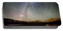 Milky Way Over The Colorado Indian Peaks Portable Battery Charger