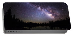 Milky Way Over The Lake Portable Battery Charger