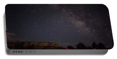 Milky Way Over White Pocket Campground Portable Battery Charger by Anne Rodkin